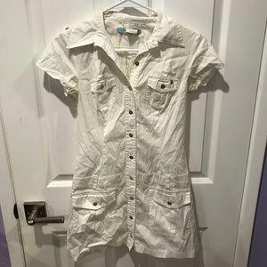Marciano Women's Button Up T-Shirt Dress